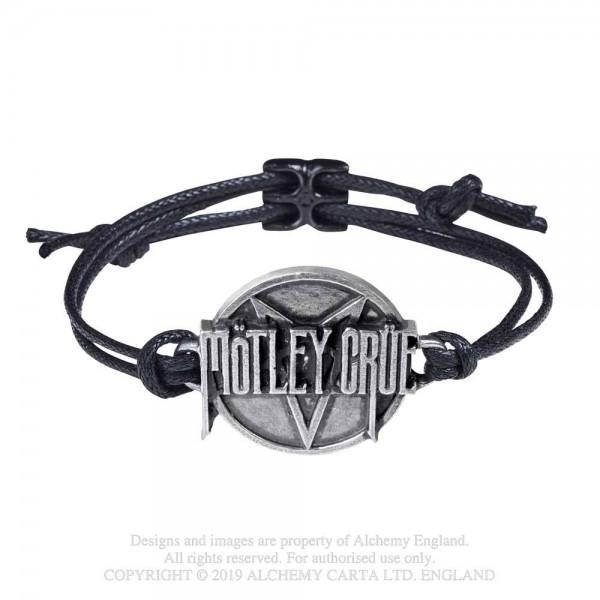Mötley Crüe - Pentagram Disc (Lederarmband)